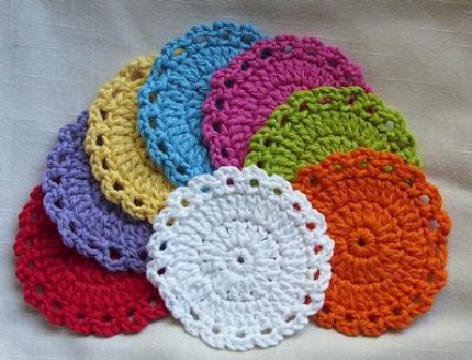 Leahstreasures crocheted facial scrubbies