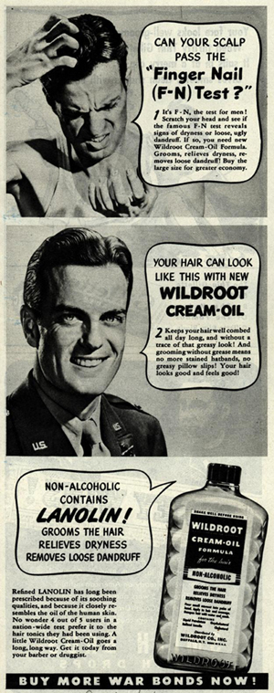 Wildroot Cream Oil advert, 1944