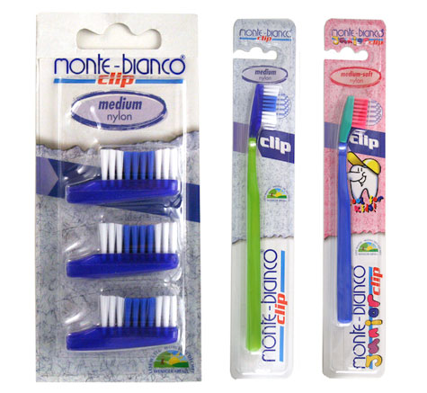 Monte-Bianco Clip toothbrushes