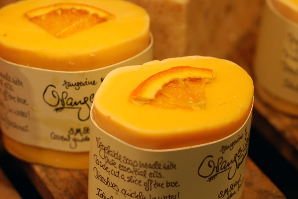 SM Strand orange soap at Covent Garden