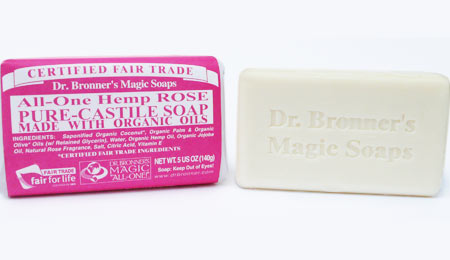 Dr. Bronner's Rose Organic Bar Soap - image 1